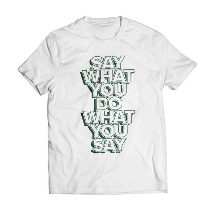 Speech White Tee