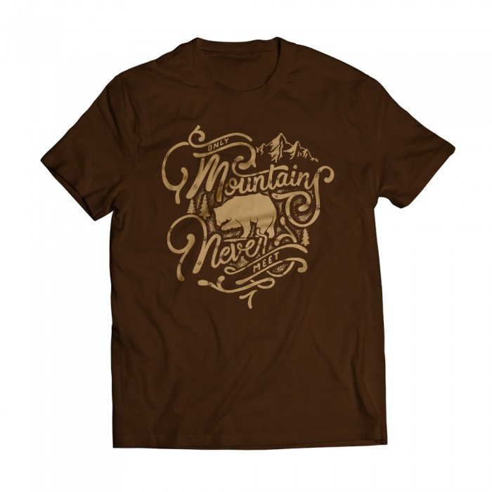 Tshirt Moutains Brown