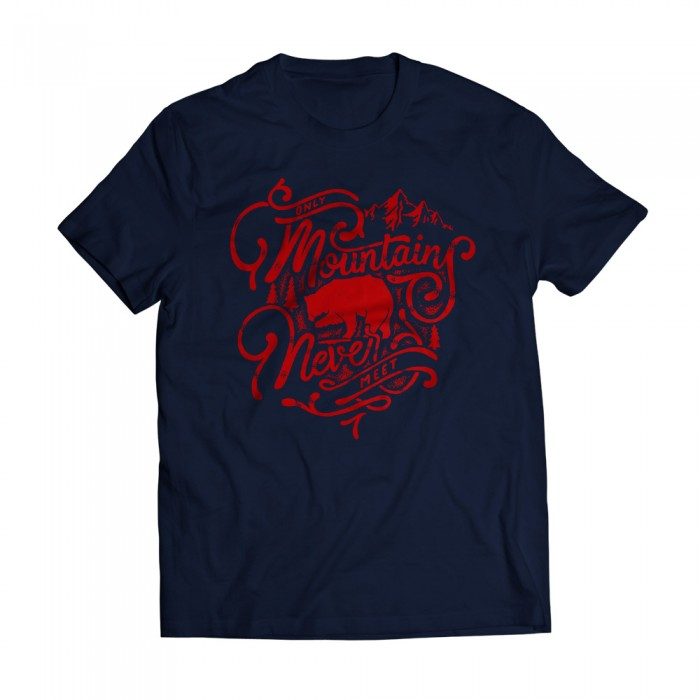 Moutains Navy Tee