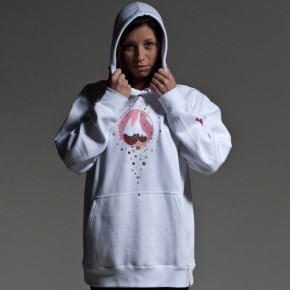 Bublz White hoodie